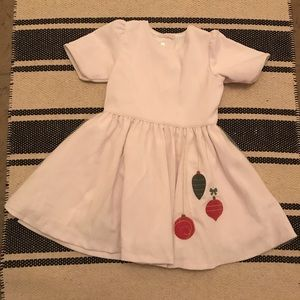 Dondolo White Corduroy Christmas Dress